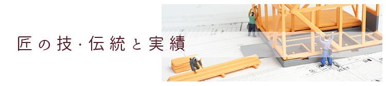 匠の技 伝統と実績